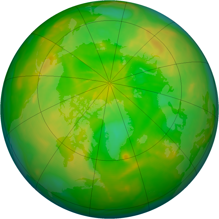 Arctic ozone map for 10 June 2014
