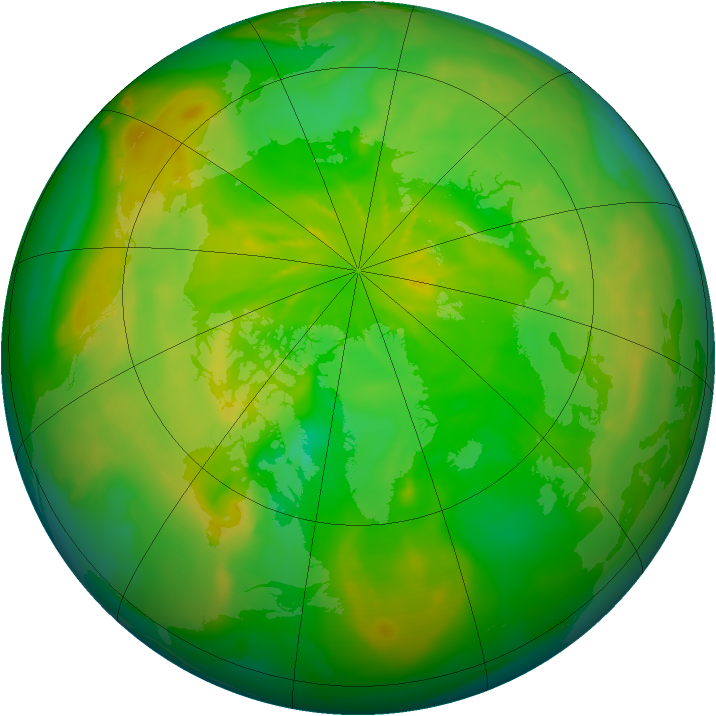 Arctic ozone map for 14 June 2014