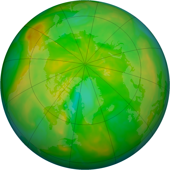 Arctic ozone map for 15 June 2014