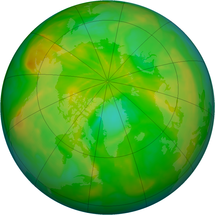 Arctic ozone map for 16 June 2014