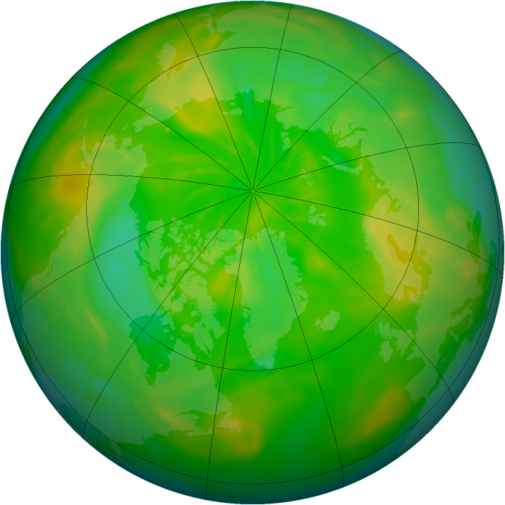 Arctic ozone map for 21 June 2014