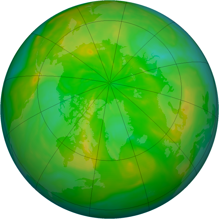 Arctic ozone map for 24 June 2014