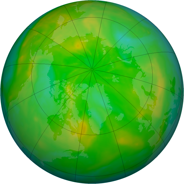 Arctic ozone map for 25 June 2014