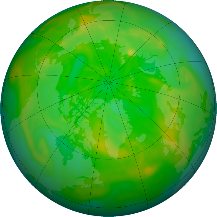 Arctic ozone map for 29 June 2014