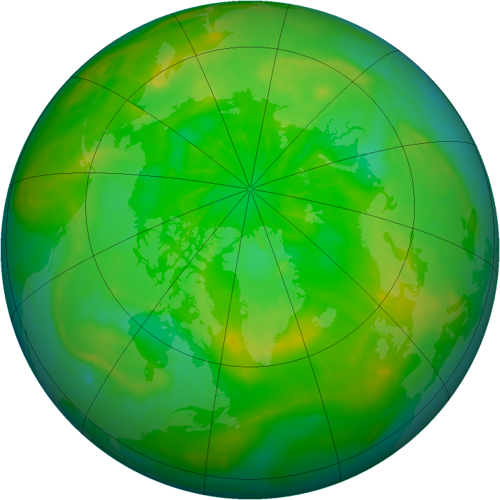 Arctic ozone map for 30 June 2014