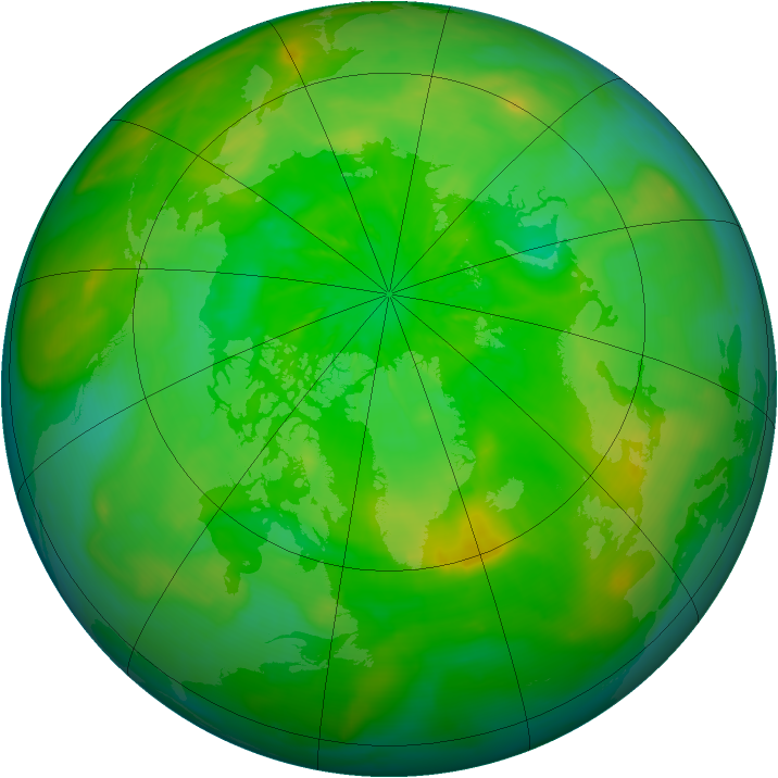 Arctic ozone map for 01 July 2014