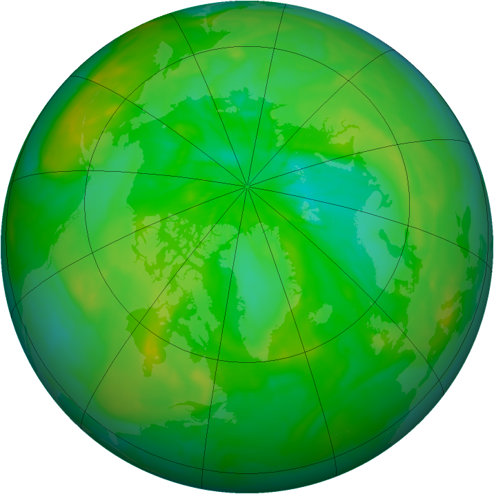 Arctic ozone map for 10 July 2014