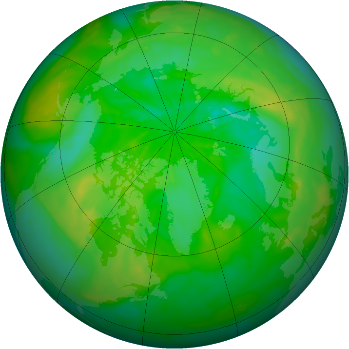 Arctic ozone map for 11 July 2014