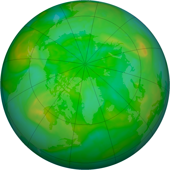 Arctic ozone map for 12 July 2014