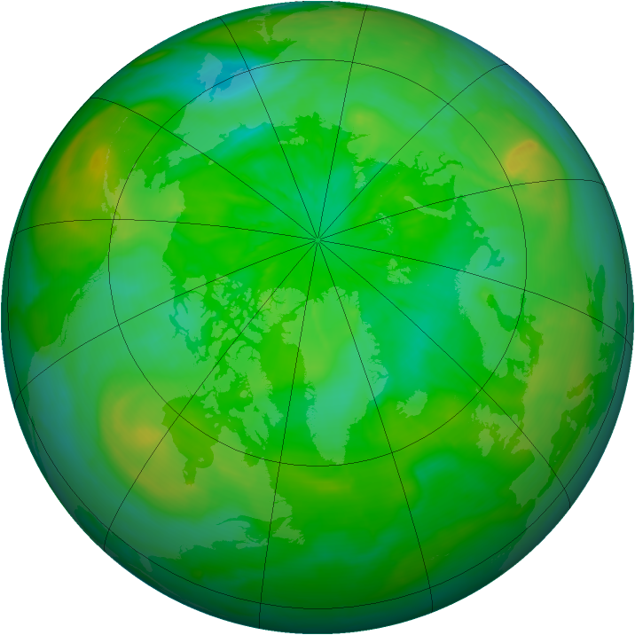 Arctic ozone map for 13 July 2014