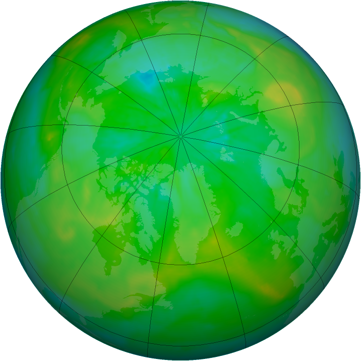 Arctic ozone map for 18 July 2014