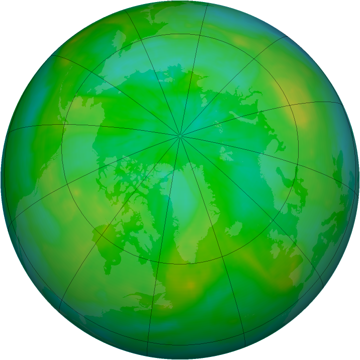 Arctic ozone map for 19 July 2014