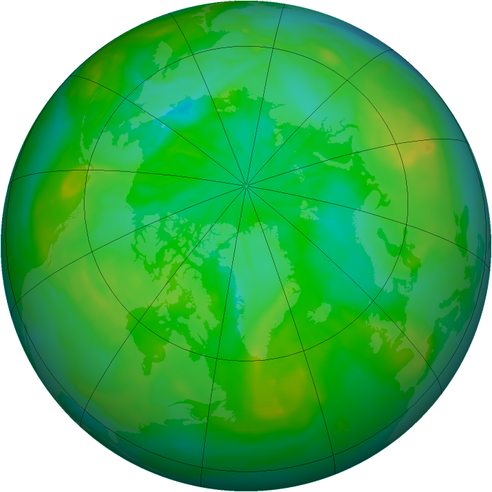 Arctic ozone map for 20 July 2014