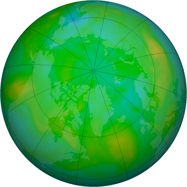 Arctic ozone map for 22 July 2014