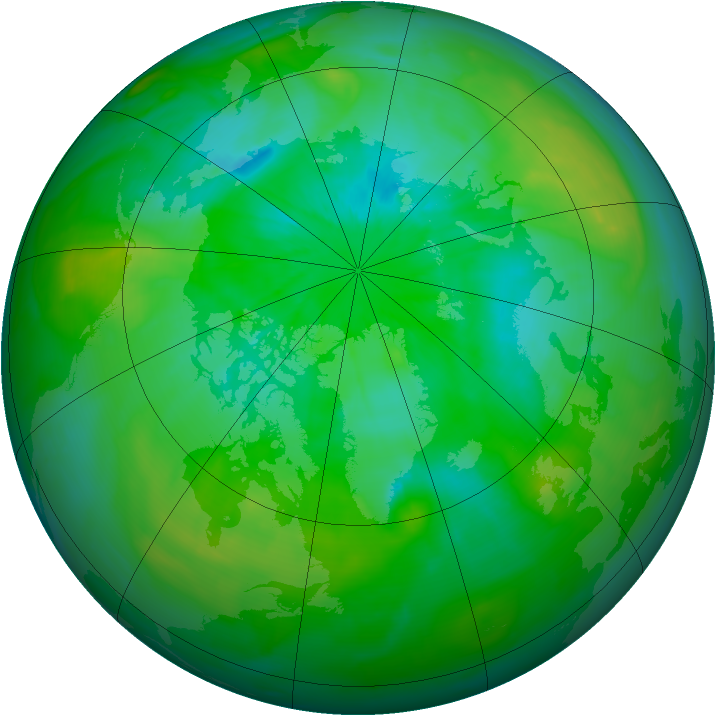 Arctic ozone map for 27 July 2014