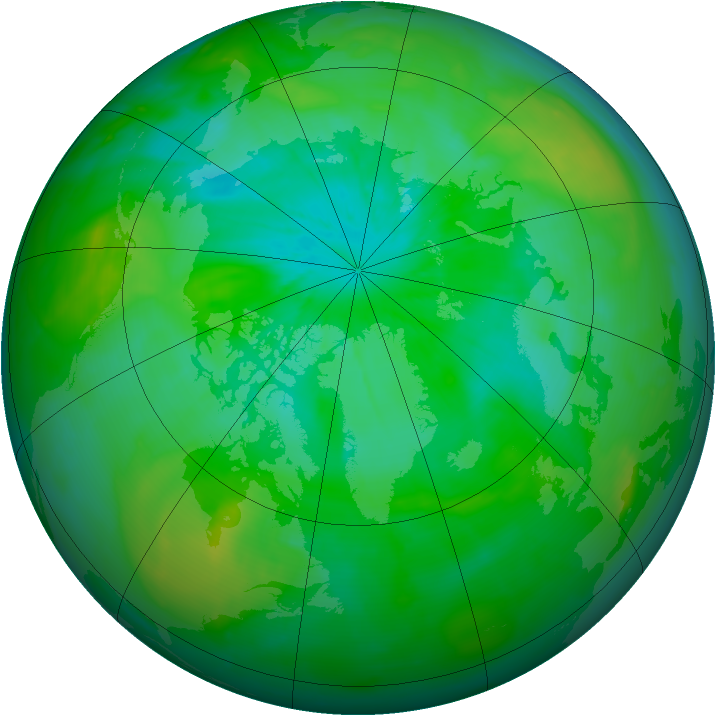 Arctic ozone map for 29 July 2014