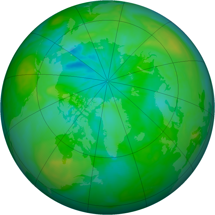 Arctic ozone map for 30 July 2014