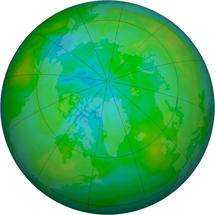Arctic ozone map for 01 August 2014