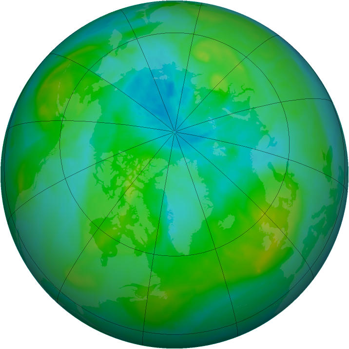 Arctic ozone map for 12 August 2014