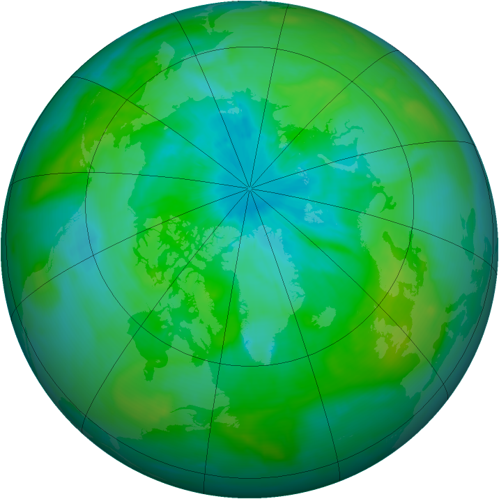 Arctic ozone map for 14 August 2014