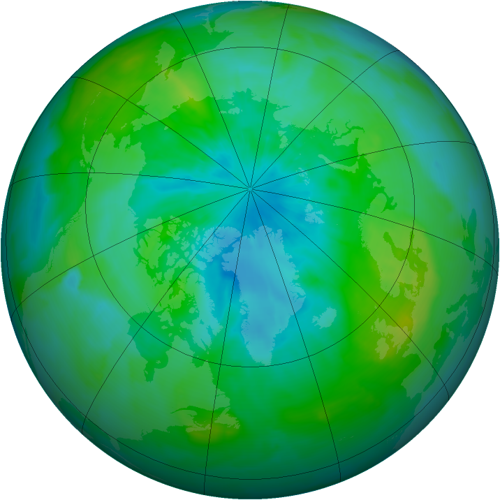 Arctic ozone map for 19 August 2014