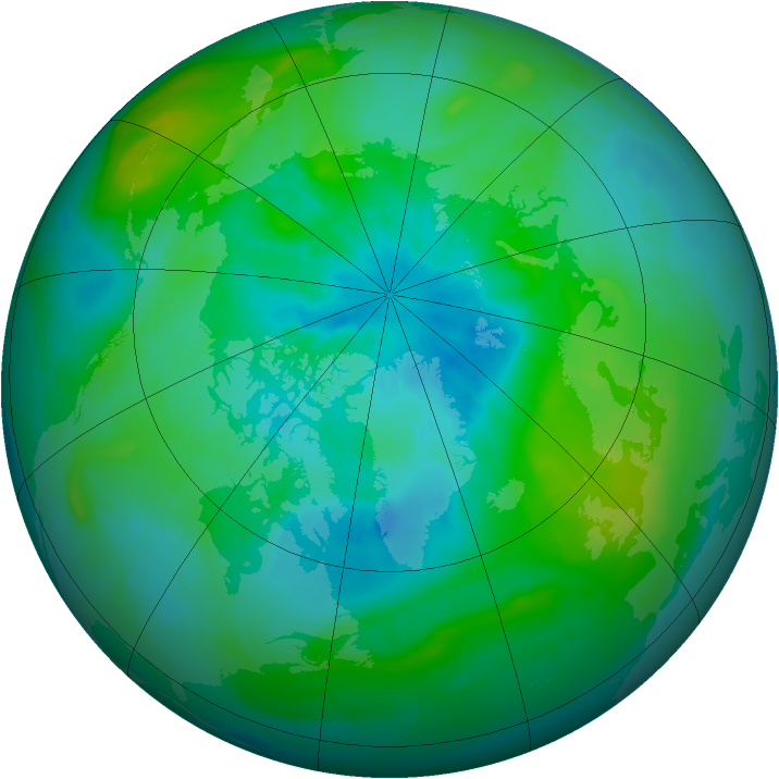 Arctic ozone map for 23 August 2014
