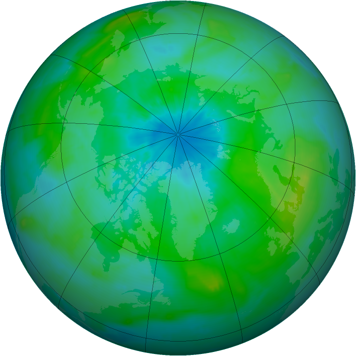 Arctic ozone map for 26 August 2014