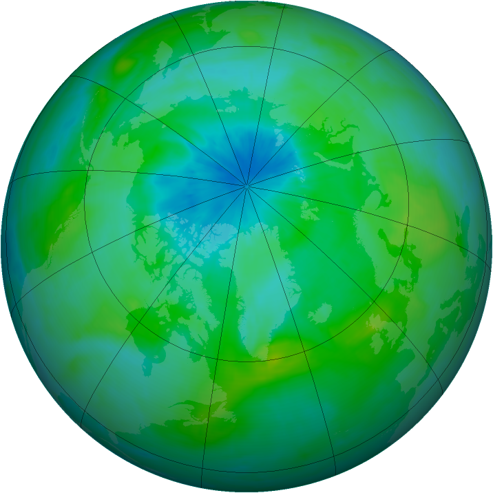 Arctic ozone map for 29 August 2014
