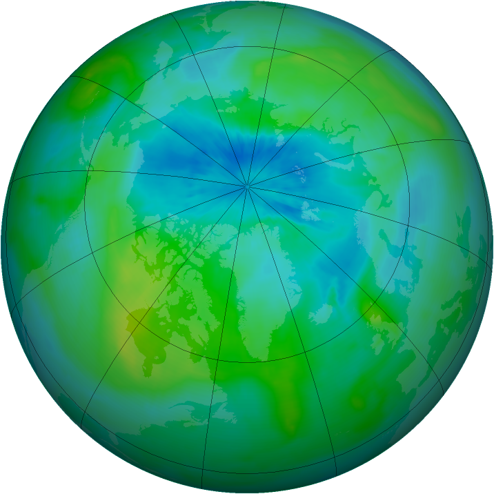 Arctic ozone map for 06 September 2014