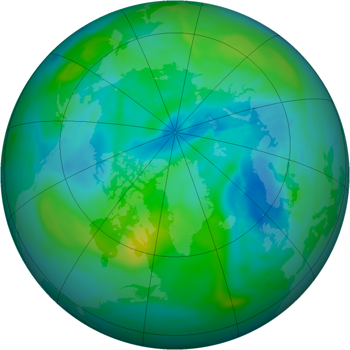 Arctic ozone map for 10 September 2014