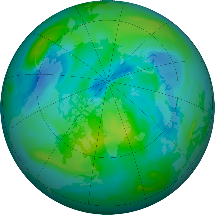 Arctic ozone map for 12 September 2014
