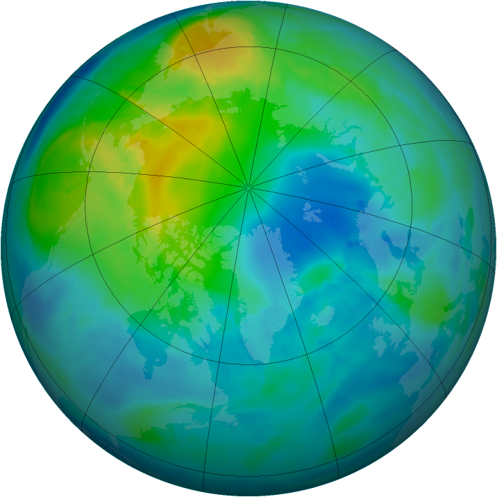 Arctic ozone map for 22 October 2014