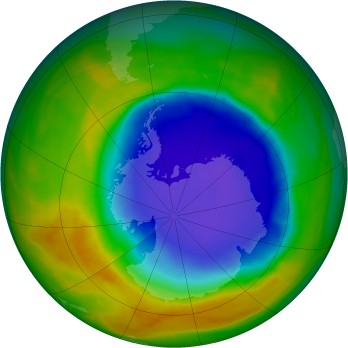 Antarctic ozone map for 2014-10-28