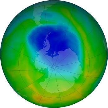 Antarctic ozone map for 2014-11-17