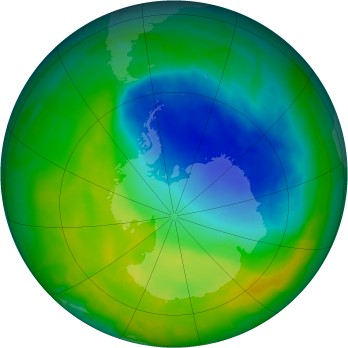 Antarctic ozone map for 2014-11-24