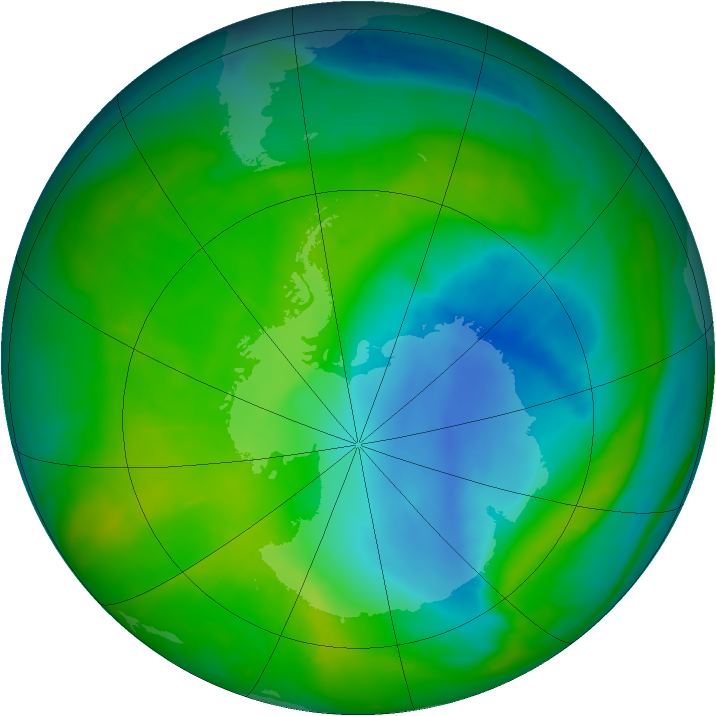 Antarctic ozone map for 02 December 2014