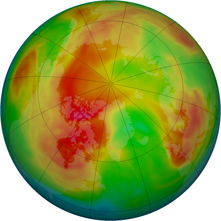 Arctic ozone map for 03 February 2015