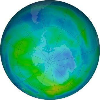 Antarctic ozone map for 2015-03-28