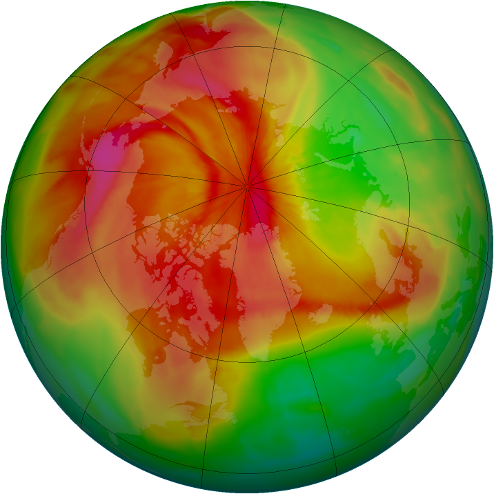 Arctic ozone map for 01 April 2015