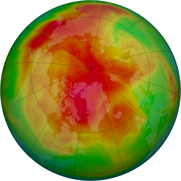 Arctic ozone map for 11 April 2015