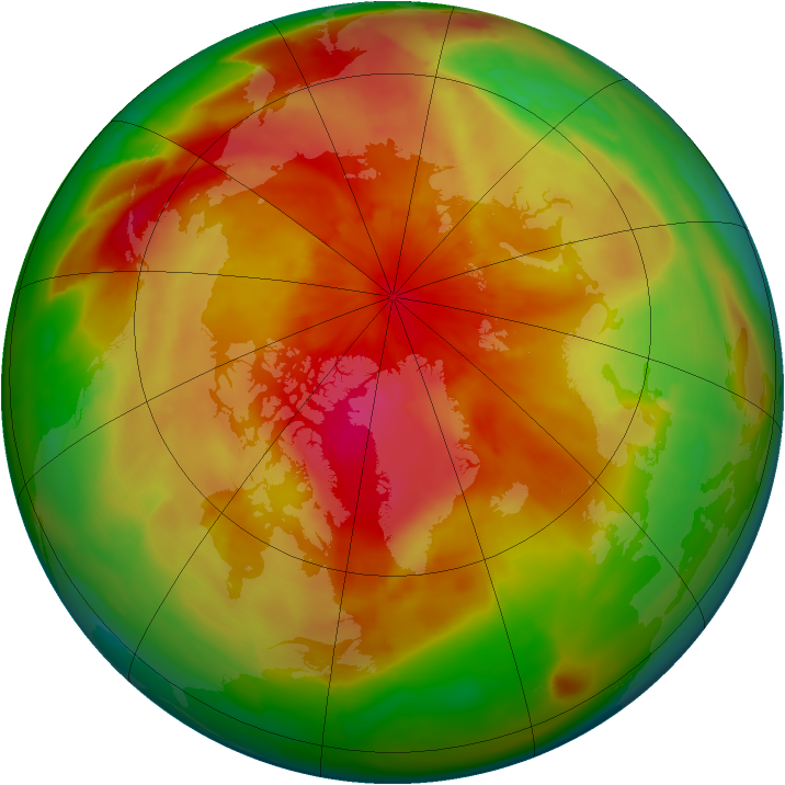 Arctic ozone map for 12 April 2015