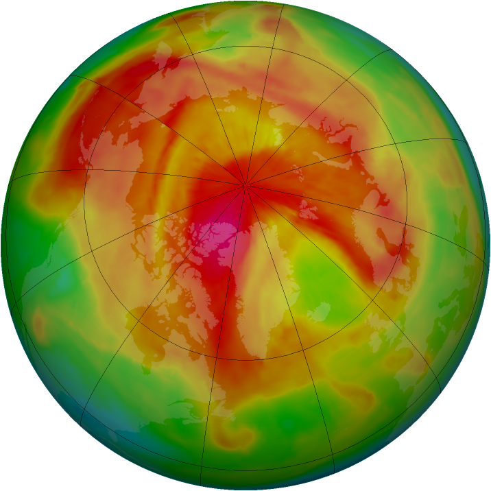 Arctic ozone map for 16 April 2015