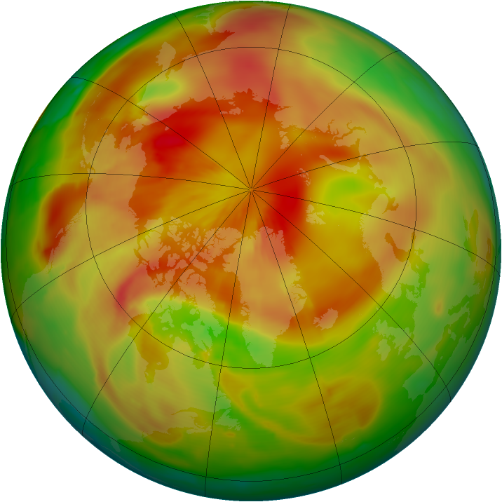 Arctic ozone map for 23 April 2015