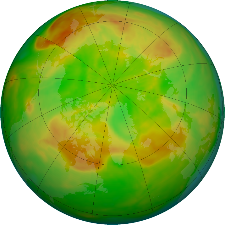 Arctic ozone map for 28 May 2015