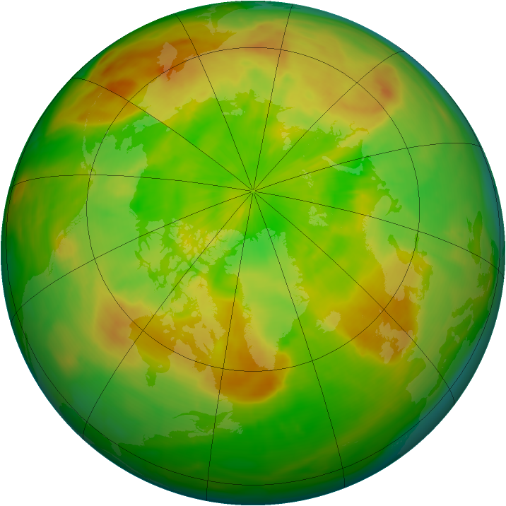 Arctic ozone map for 29 May 2015