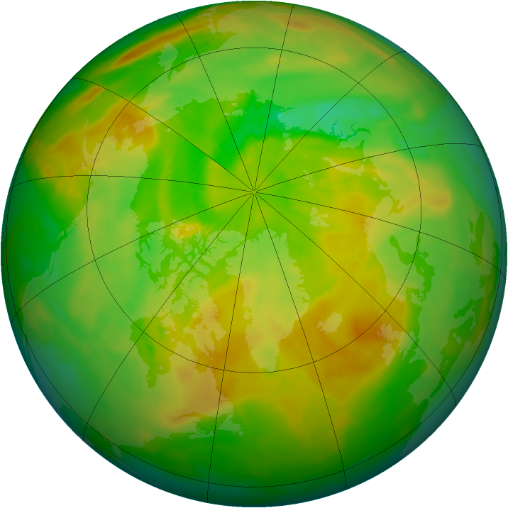 Arctic ozone map for 06 June 2015