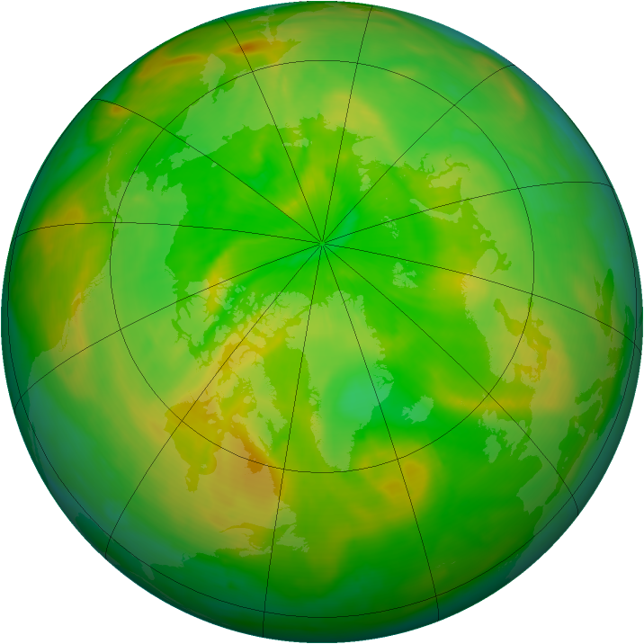 Arctic ozone map for 19 June 2015