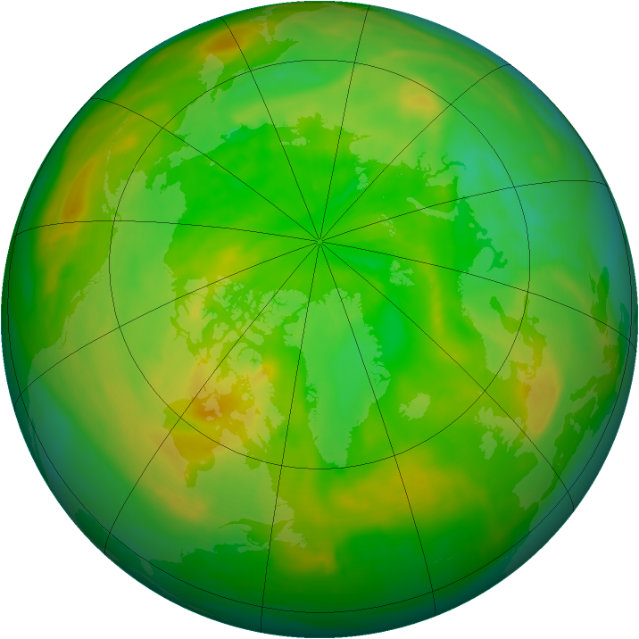 Arctic ozone map for 23 June 2015
