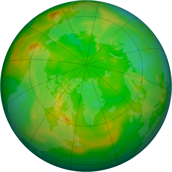 Arctic ozone map for 27 June 2015