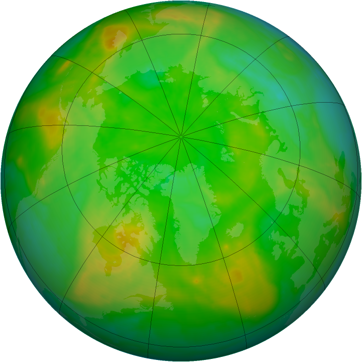Arctic ozone map for 30 June 2015